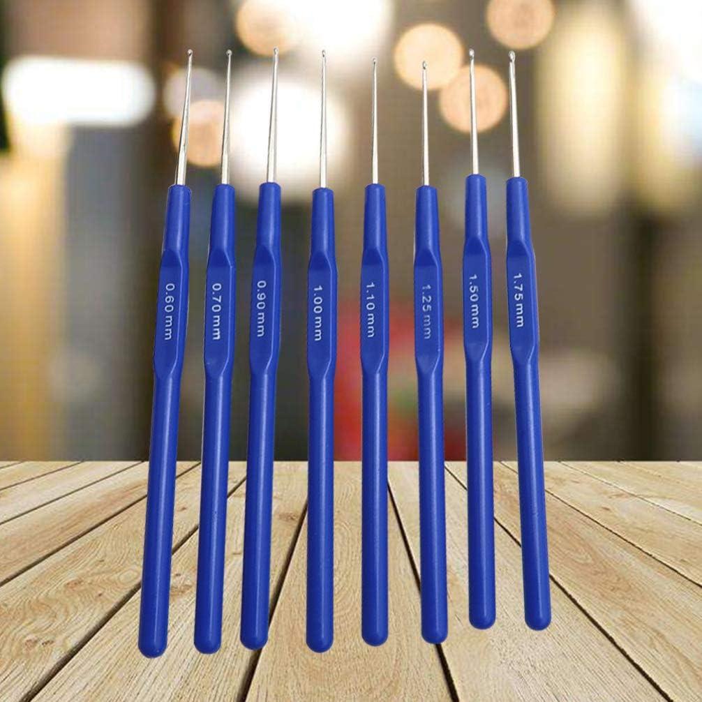 colore: blu per lavori a maglia Set di 8 uncinetti in acciaio inox Artibetter cucito e riparazione maglione per lavori artistici fai da te per lavori a maglia