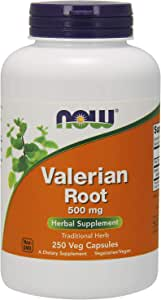 NOW Supplements, Valerian Root (Valeriana officinalis) 500 mg, Herbal Supplement, 250 Veg Capsules