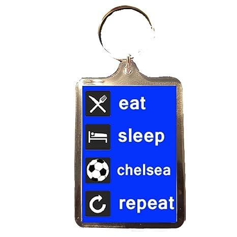 Amazon.com: Chelsea F.C - Comer, dormir Llavero repetido ...