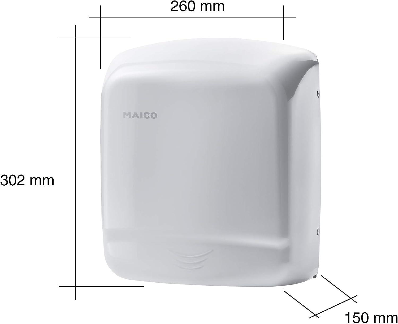 asciugatura rapida e accurata delle mani confezione da 1 pezzo Maico HD200 0076.0004 Asciugamani a parete con sensore di rilevamento a infrarossi integrato