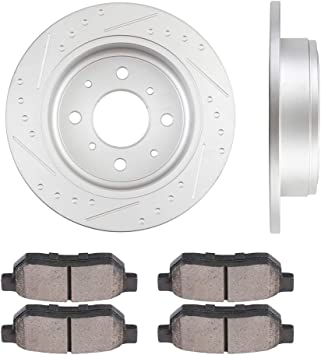 NEW Honda Civic Si Set of 2 Rear Pads 2 Front Disc Brake Rotors