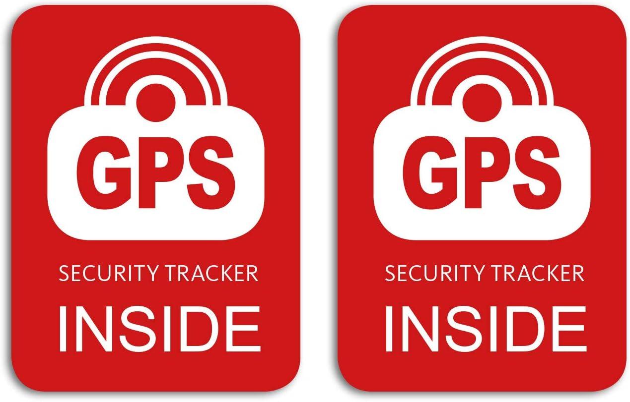 Gps Security Tracker Inside Aufkleber 2 Stück Für Das Fahrrad Bike Sticker Wetterfest Uv Beständig Sport Freizeit