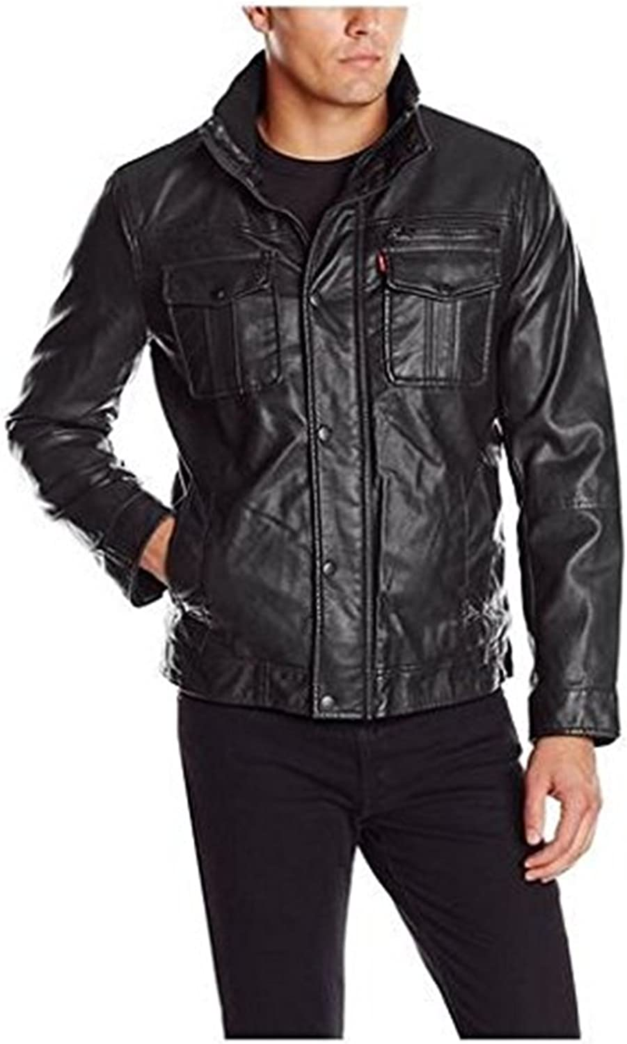 New Men Quilted Leather Jacket Soft Lambskin Biker Bomber T849