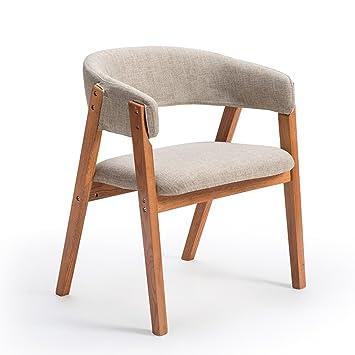 Muebles Modernos CAICOLORFUL Silla Tela de Lino Silla de ...