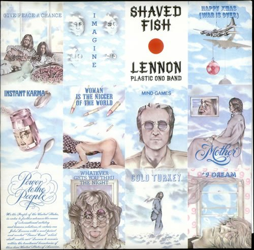 John Lennon Shaved Fish - Laminated 1975 UK vinyl LP PCS7173