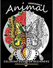 Zentangle Animals Coloring Book for Beginner: An Adults Coloring Book Featuring Fun and Stress Relief Design