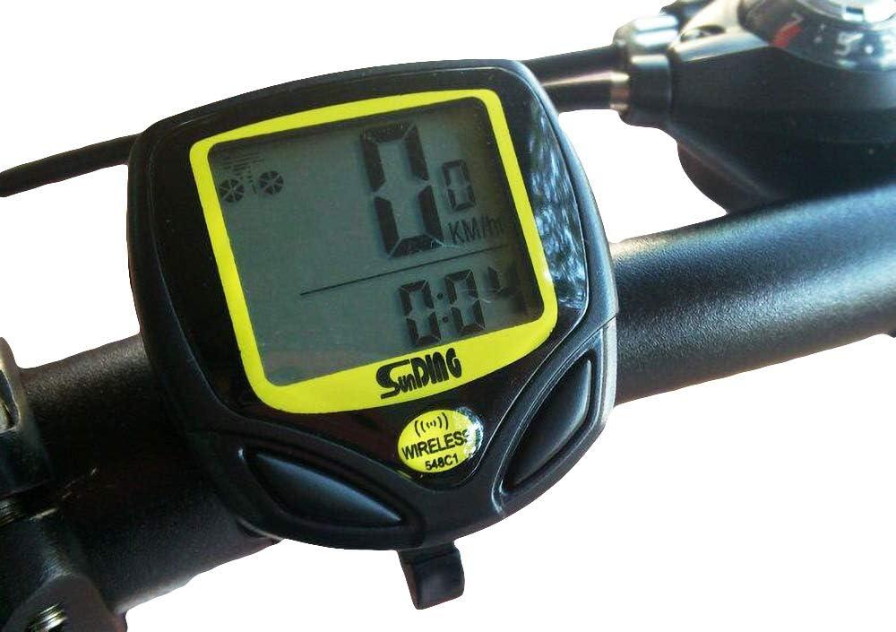 LIDAUTO Bicicleta Ordenador Velocímetro Inalámbrico MTB Bicicleta ...