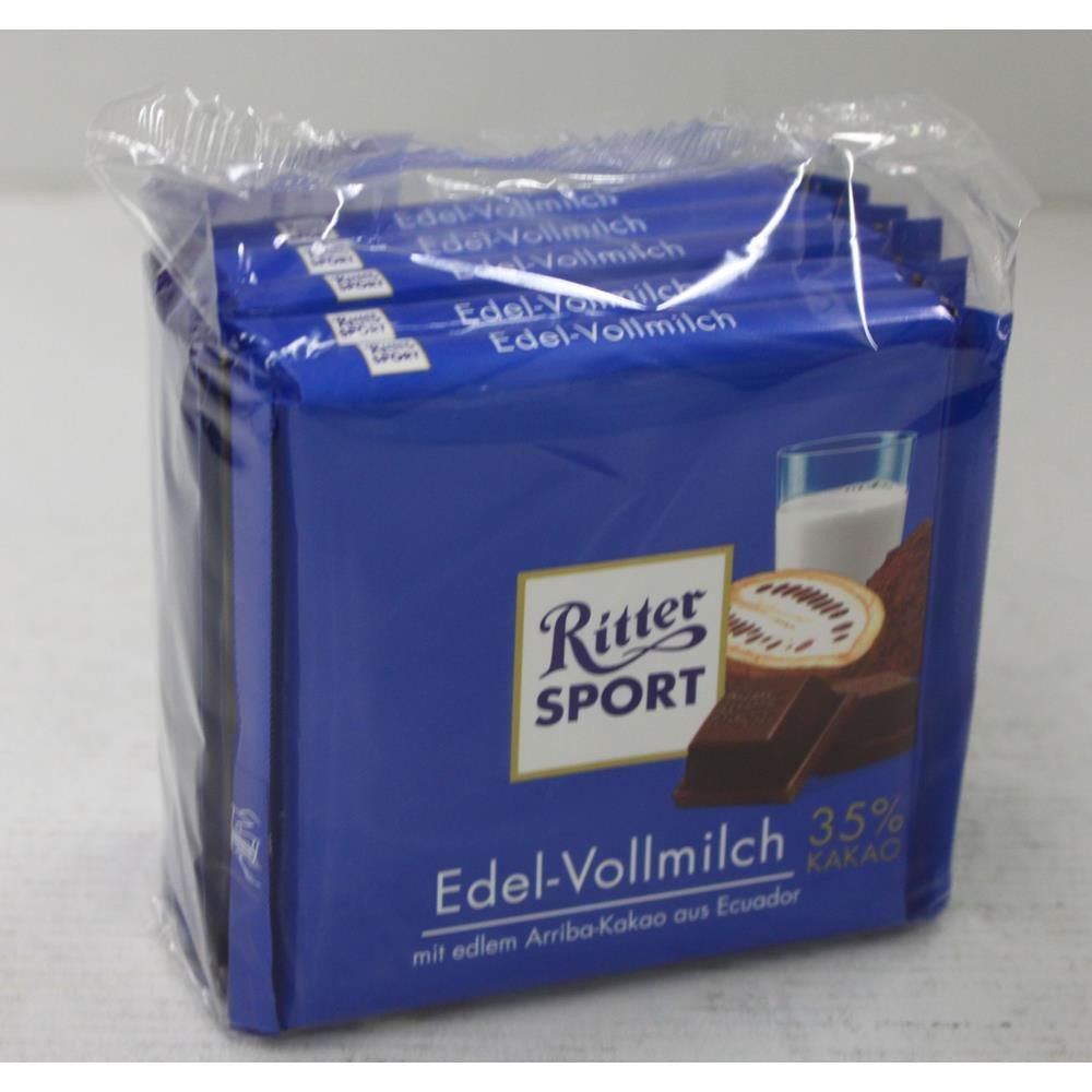 Ritter Deportes inoxidable de chocolate con leche Chocolate ...