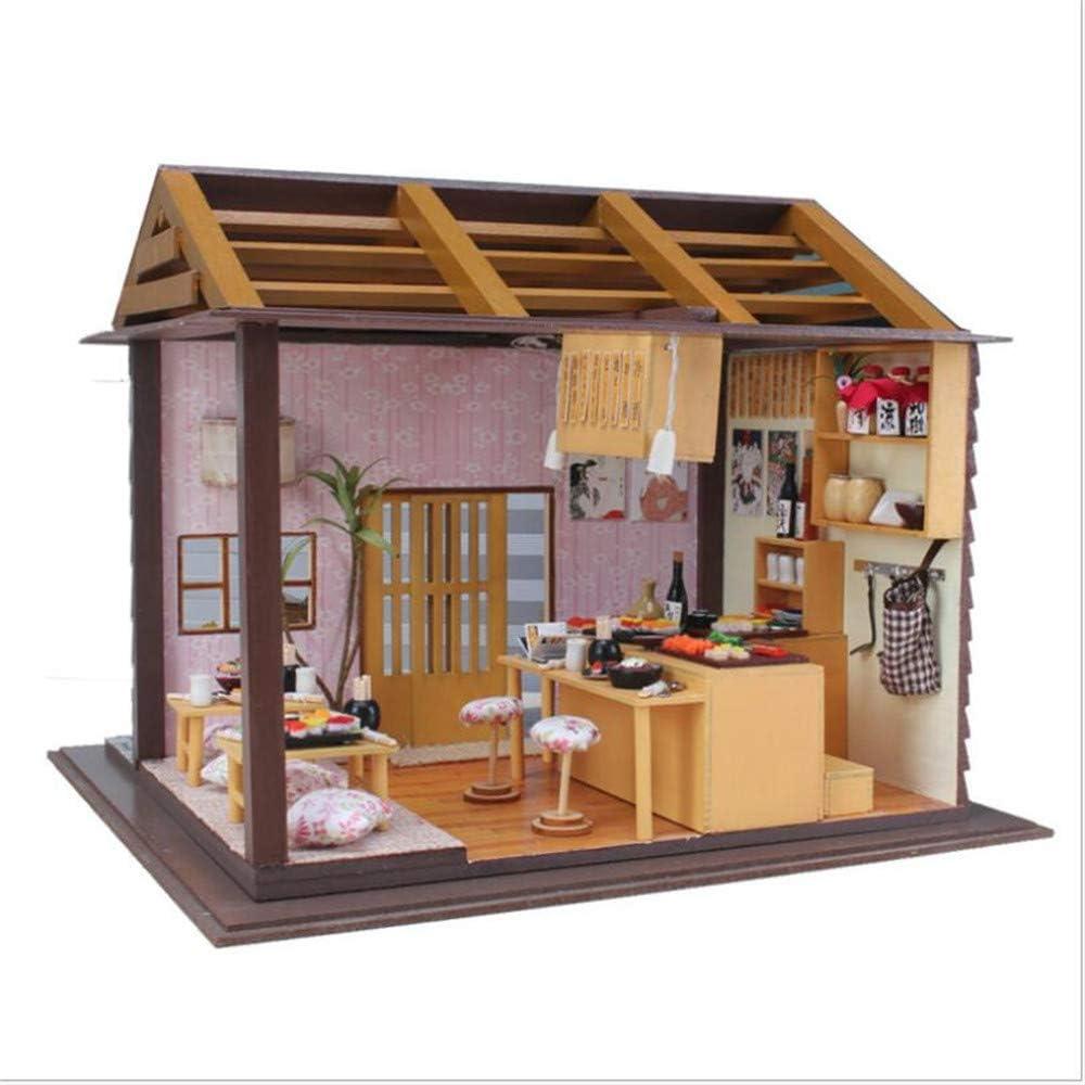 LCY Tienda De Sushi De Madera Modelo De Muebles Hechos A Mano ...