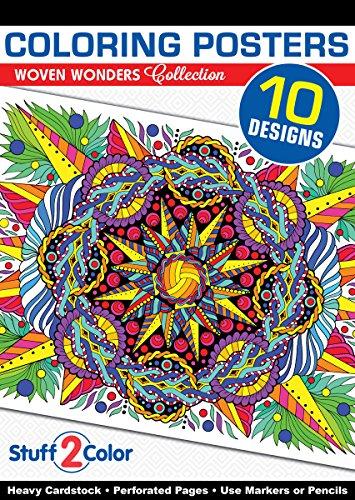(Woven Wonders - Premium Coloring Poster Book (10 Designs))
