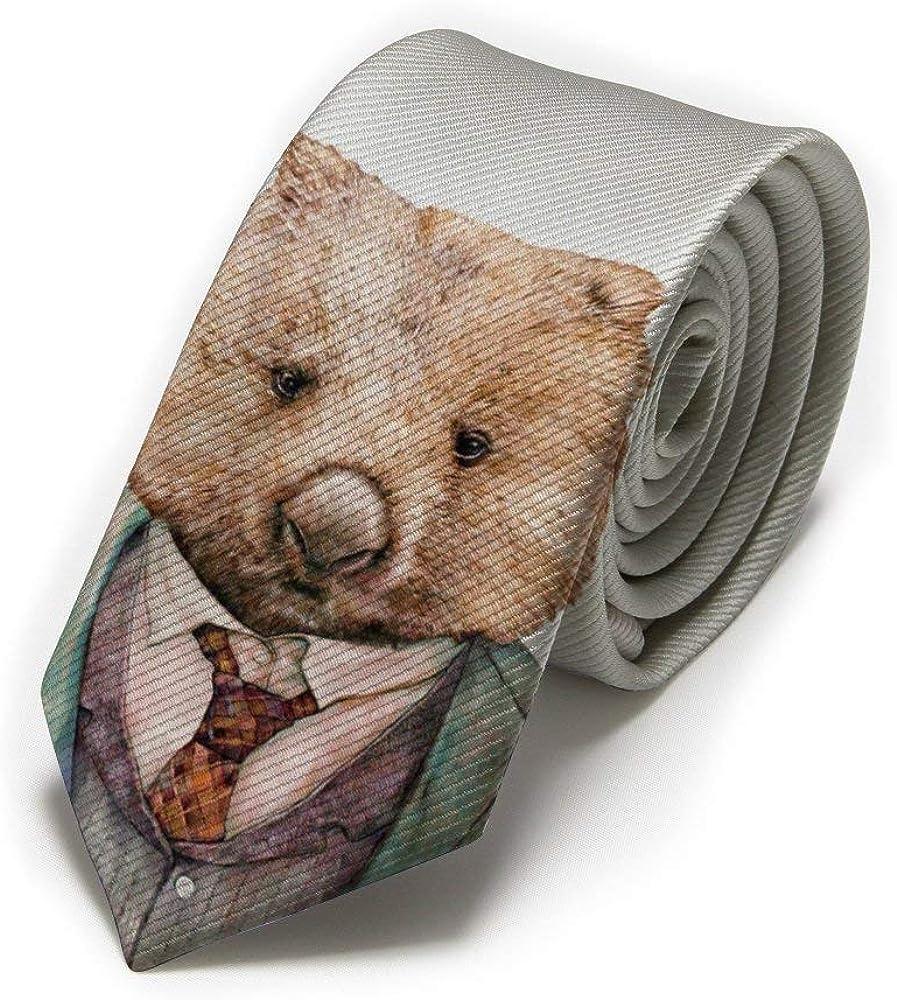Corbata clásica para hombre Ceo Wombat Animal Portrait, corbatas ...