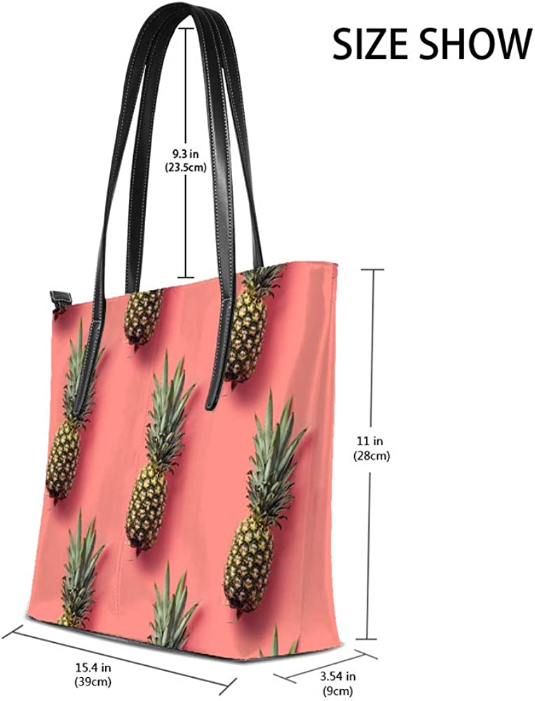 Women Handbags Pineapple Shoulder Bags Large Tote Bags Lady Casual Bags School Shopping Trip Dating