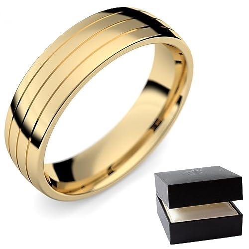 Anillo Alianzas De Matrimonio (/Mujer Oro Amarillo 585 – oro anillo de matrimonio –