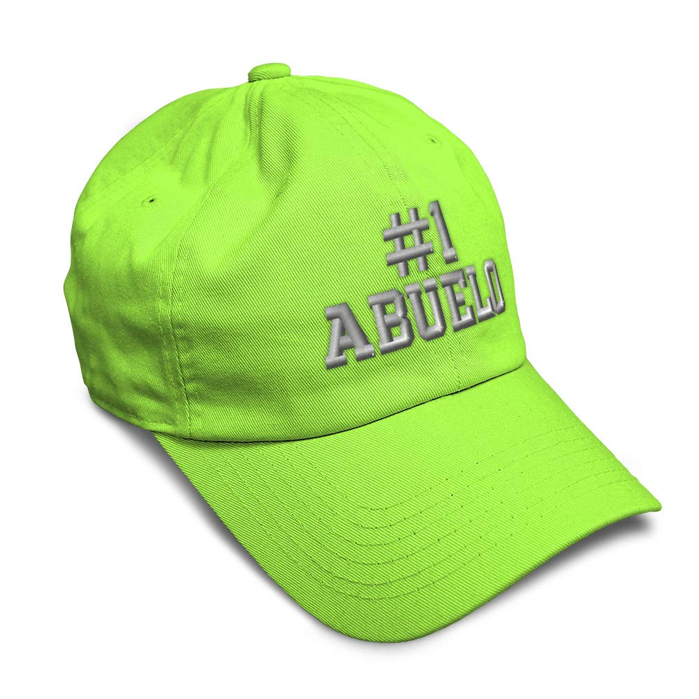 Custom Snapback Hats for Men /& Women Number #1 Abuelo Embroidery Cotton Snapback