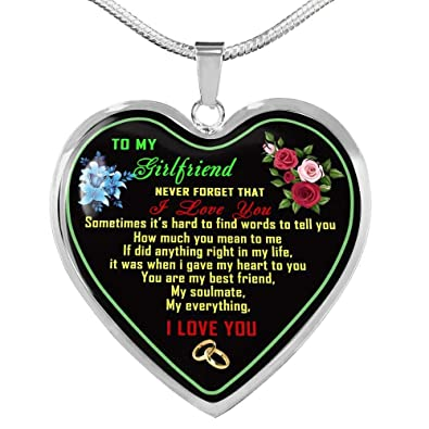 Amazon Com To My Girlfriend Necklace For Your Girlfriend On