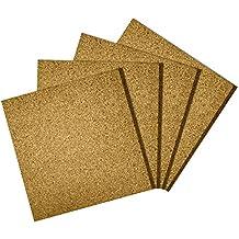 "Premium Cork Tiles 12""x12"" - 1/2"" Thick - Cork Board - Bulletin Board - Mini Wall - Ultra Strong Self Adhesive Backing - 4 Pack"