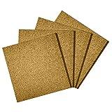 Premium Cork Tiles 12''x12'' - 1/2'' Thick - Cork Board - Bulletin Board - Mini Wall - Ultra Strong Self Adhesive Backing - 4 Pack