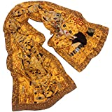 "TONY & CANDICE 100% Silk Luxurious Charmeuse Long Scarf Art Collection Shawl, 62"" L*15.7"" W"