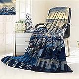 Digital Printing Blanket Arch of Triumph Restaurant Monument ed Street Sketch Style Art Black Red Summer Quilt Comforter