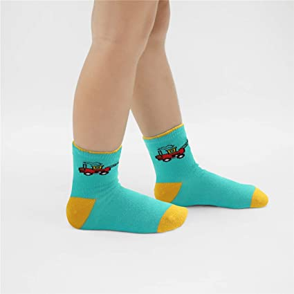 storeofbaby 10 Pairs Kids Girls Fashion Soft Cute Breathable Cotton Crew Socks