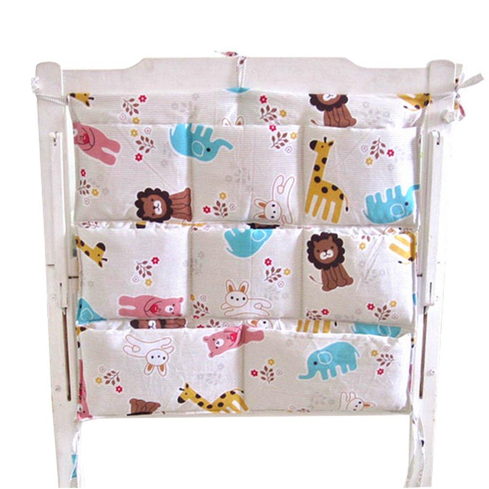 Cute Cartoon Baby Crib Hanging Diaper Bag Storage Bag Baby Room Decor,Animal