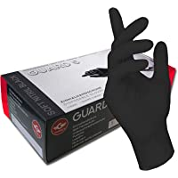 GUARD 5, wegwerphandschoenen, zwarte nitril-handschoenen, poedervrije tatoeëerhandschoenen, kookhandschoenen, 8 / M, 100…