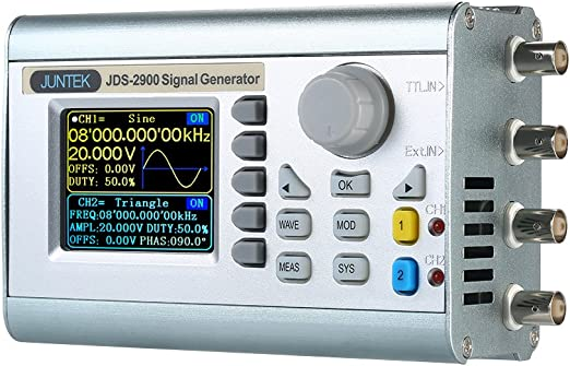 KKmoon 15MHz 200MSa//s Signal Generator Function High Precision Digital Dual-Channel DDS Arbitrary Waveform Pulse Signal Generator 1Hz-100MHz Frequency Meter