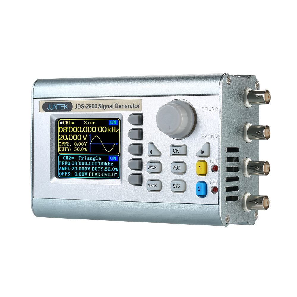 KKmoon High Precision Digital Dual-channel DDS Signal Generator Counter 2.4in Screen Display Arbitrary Waveform Pulse Signal Generator 0.01uHz-60MHz Function Frequency Meter 266MSa/s