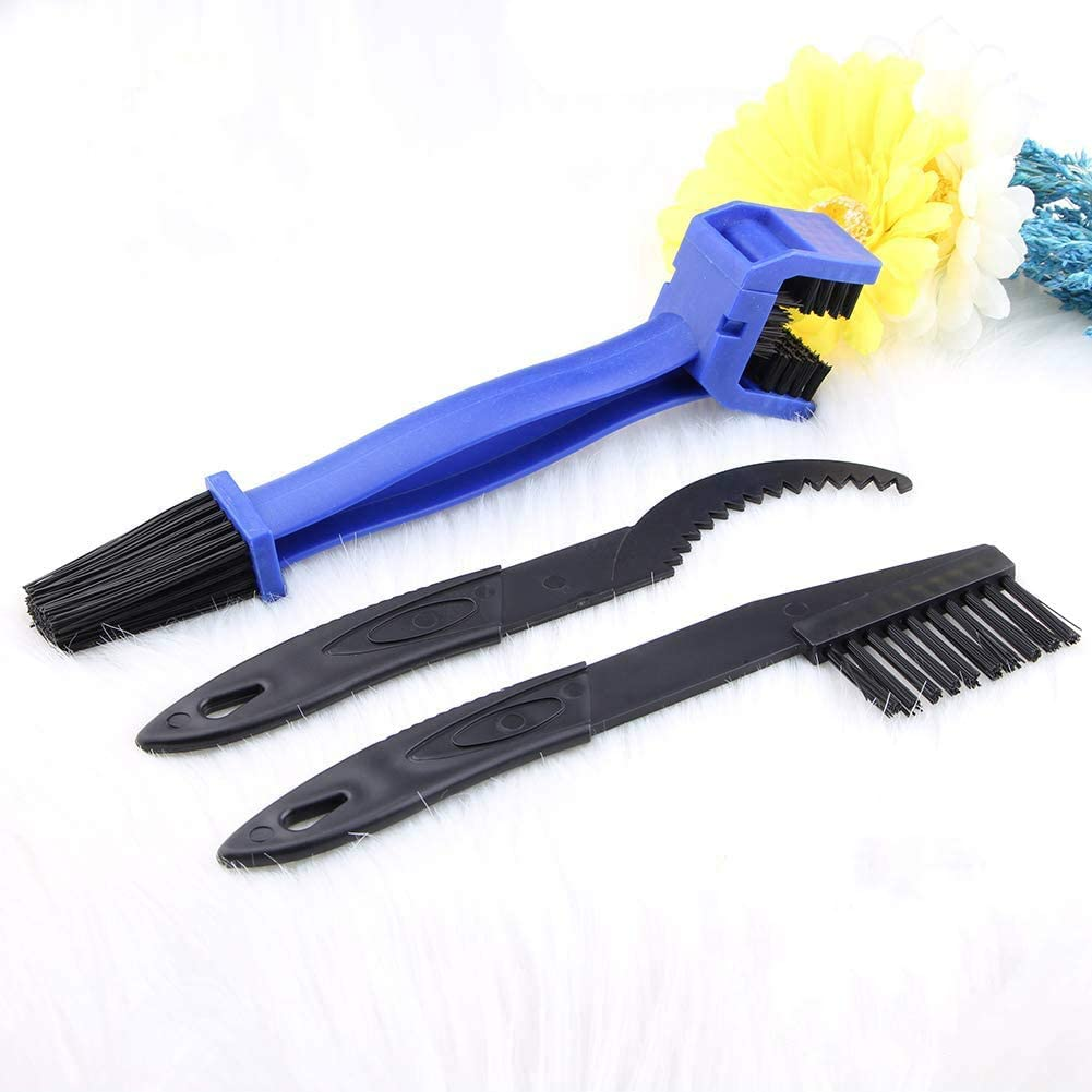 LEBOLIKE Durable Motorcycle Bike Chain Brush for Gears Chains Maintenance Cleaning Brush Cleaner Tools