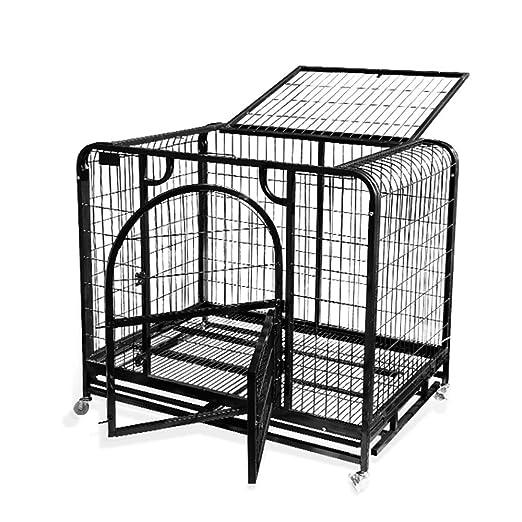 Cajón Plegable para Perros De Metal con Una Sola Puerta Jaula para ...