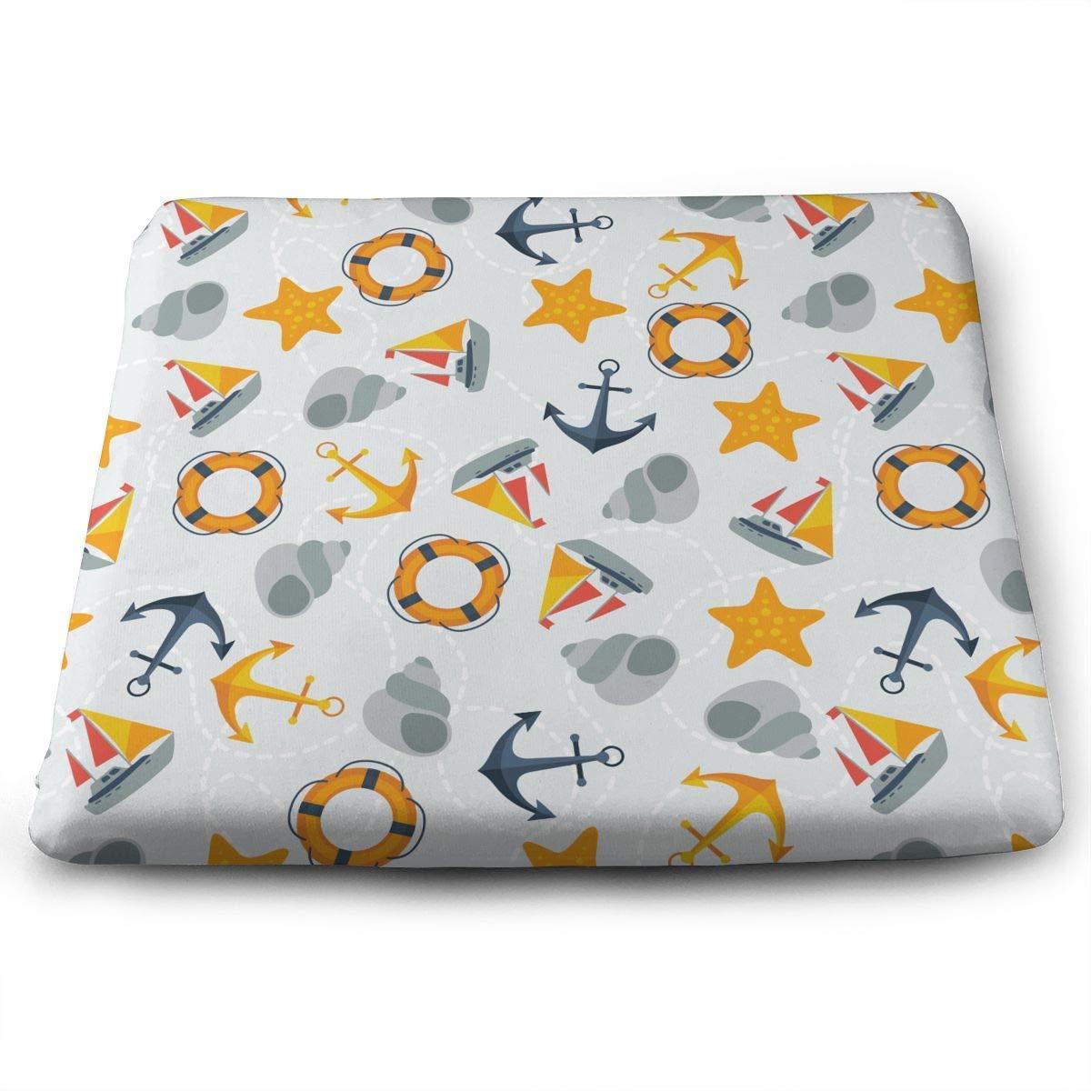 Amazon.com: Seat Cushion for Office Chair, Stars Nautical ...