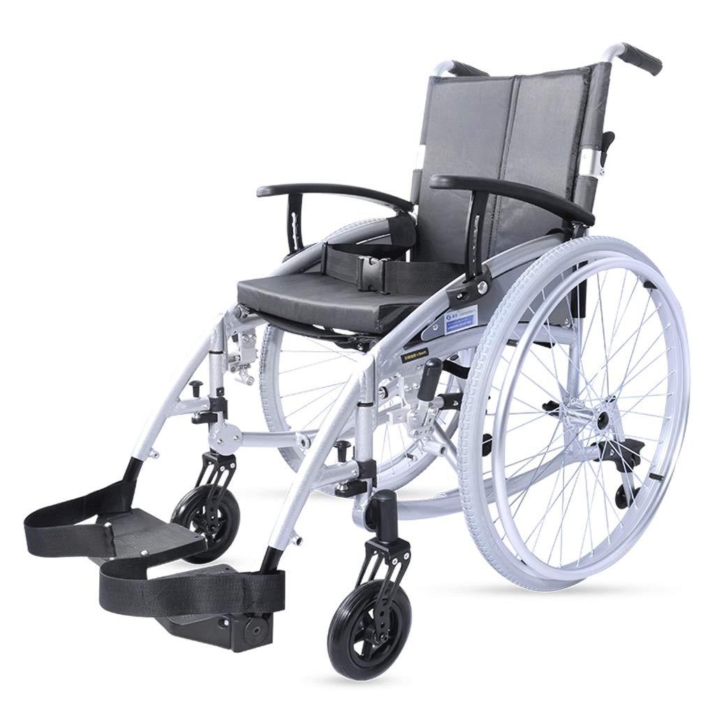 Silla de Ruedas Plegable para Silla de Ruedas Silla de Ruedas Manual para Personas Mayores con Movilidad Reducida Scooter para Personas con discapacidad: ...