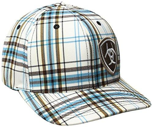 Ariat Mens Blue Plad Corner Logo Hat