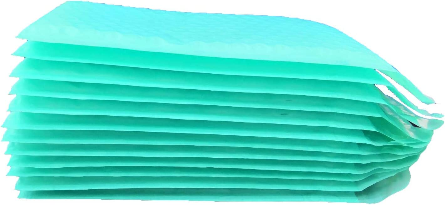 100 BESTeck #2 Teal Poly Bubble Mailers 8.5x12 Padded Envelopes
