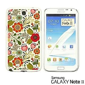 OnlineBestDigital? - Flower Pattern Hardback Case for Samsung Galaxy Note 2 - Cute Floral and Birds