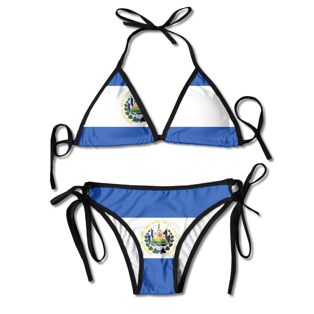 972e66b4ff Amazon.com: El Salvador Bright-Coloured Flag Women's Sexy Bikini Set ...