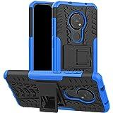 SKTGSLAMY Compatible with Nokia 6.2 Case, Nokia 7.2 Case,[Shockproof] Tough Rugged Dual Layer Protective Case Hybrid Kickstand Cover for Nokia 6.2/ Nokia 7.2 (Blue)