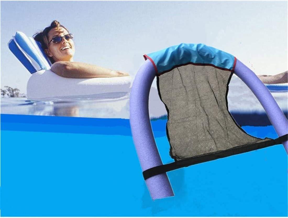 ZXCVB Silla Flotante para Asiento de Piscina, Silla Pool Noodle para Asiento en U Hinchables portátiles Flexible para niños Adultos (Púrpura, 6.5 * 150cm)