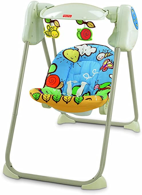 Baby Gear - Columpio proyector musical, juguete con sonido (Mattel ...