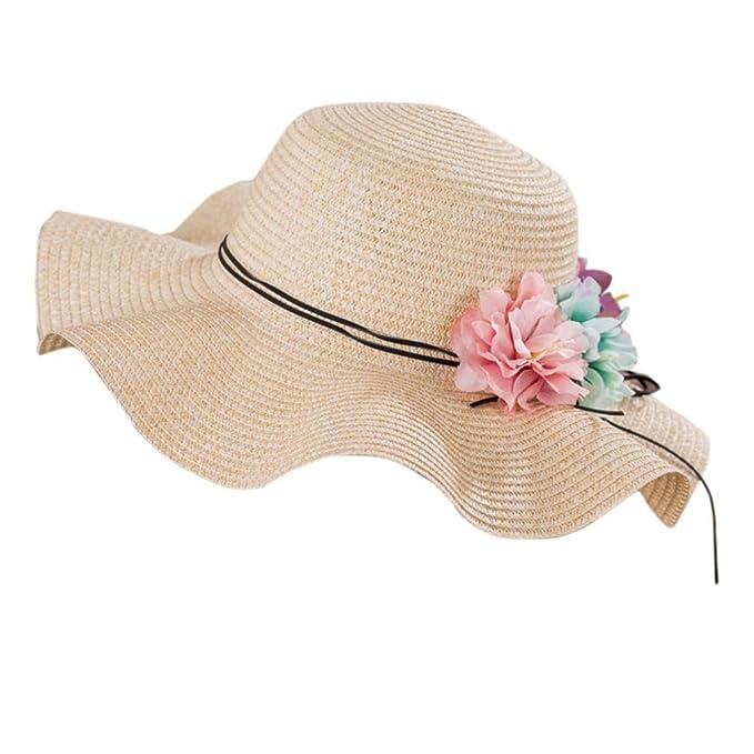 b99132cb Gaddrt Elegant Ladies Summer Sun Hats, Girl Women Floppy Wide Brim Beach  Hats, Flower