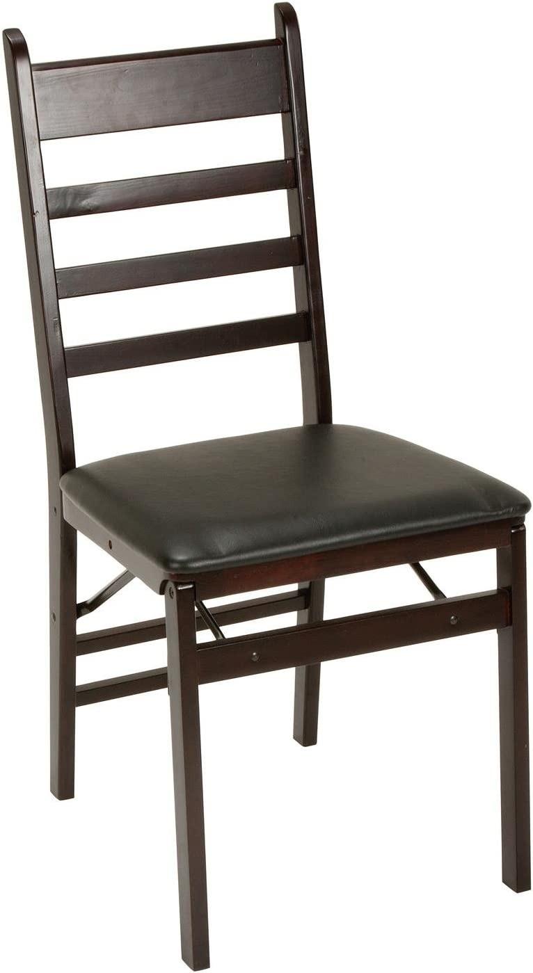 Set of 4 Cosco Ladder Back Wood Folding Chair Espresso//Black,