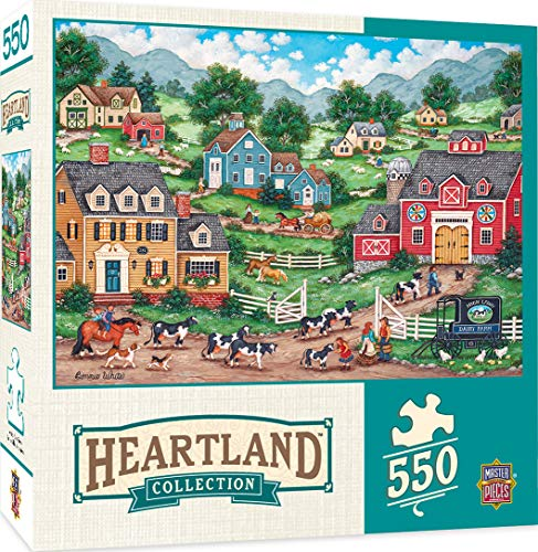 - MasterPieces Heartland Collection Jigsaw Puzzle, The Curious Calf, Featuring Art by Bonnie White, 550 Pieces