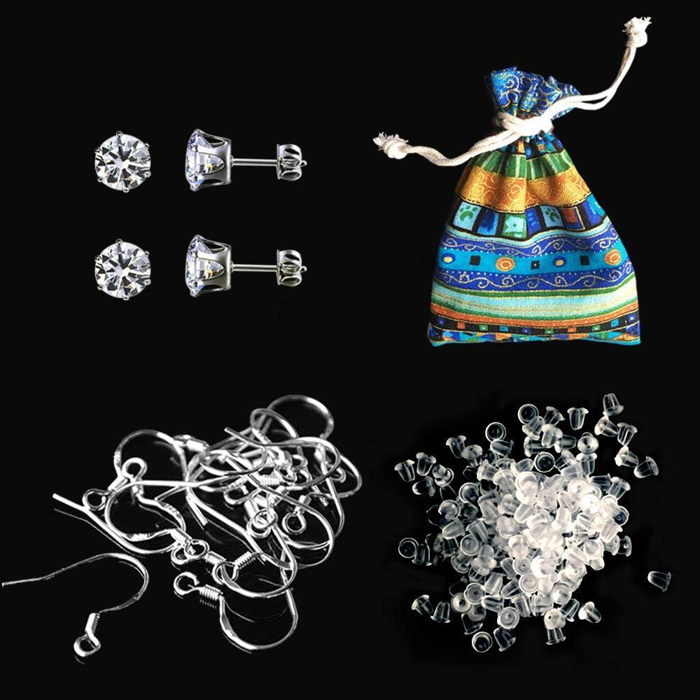 100PCS 925 Sterling Silver DIY Earring Hooks Ball Jewelry Accessories Ear Wire