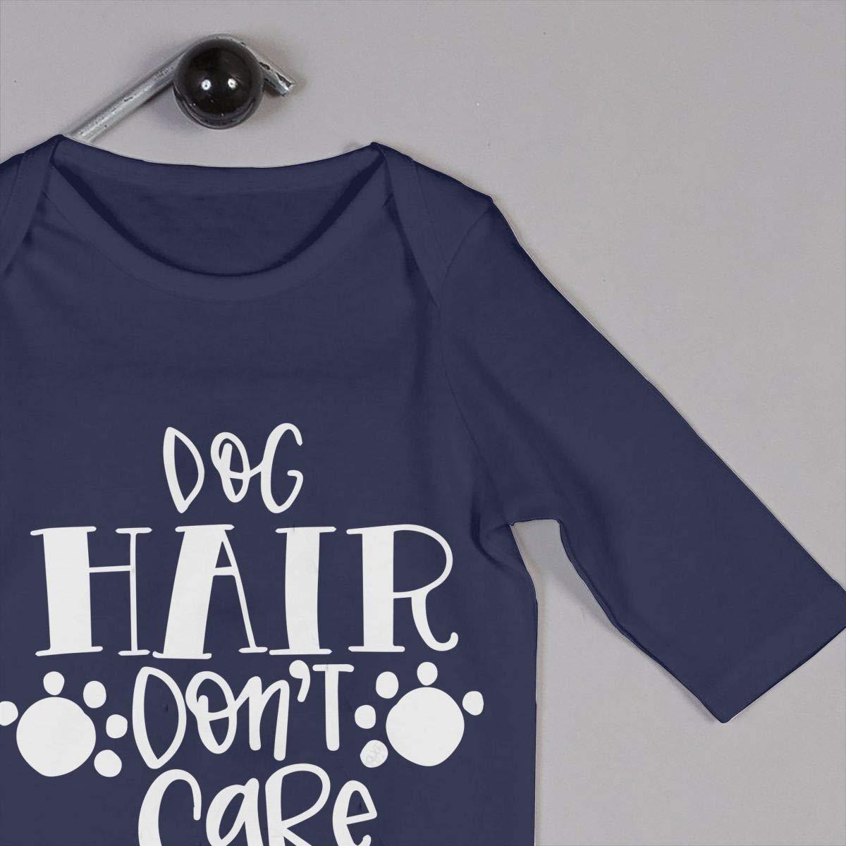 Mri-le1 Newborn Kids Long Sleeve Jumpsuit Dog Hair Dont Care Kid Pajamas