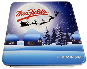 Christmas Tin Cookies.Amazon Com Mrs Fields Holiday Assorted Soft Baked Cookies
