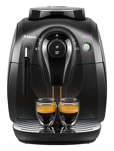 Saeco Xsmall HD8645/47 Independiente Totalmente automática Máquina espresso 1L Negro - Cafetera (Independiente
