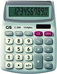Calculadora de Mesa, CIS, C-204 4.3200, Cinza