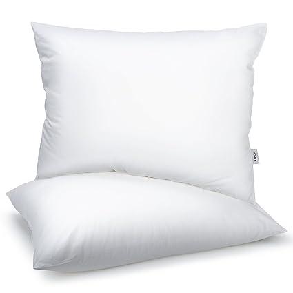 Cuscini Da Letto Misure.Homfy Cuscini 50x75 Guanciali Cuscini Letto 2 Pezzi 100 Cotone Media Durezza Anallergico E Antiacaro Traspirante Bianco
