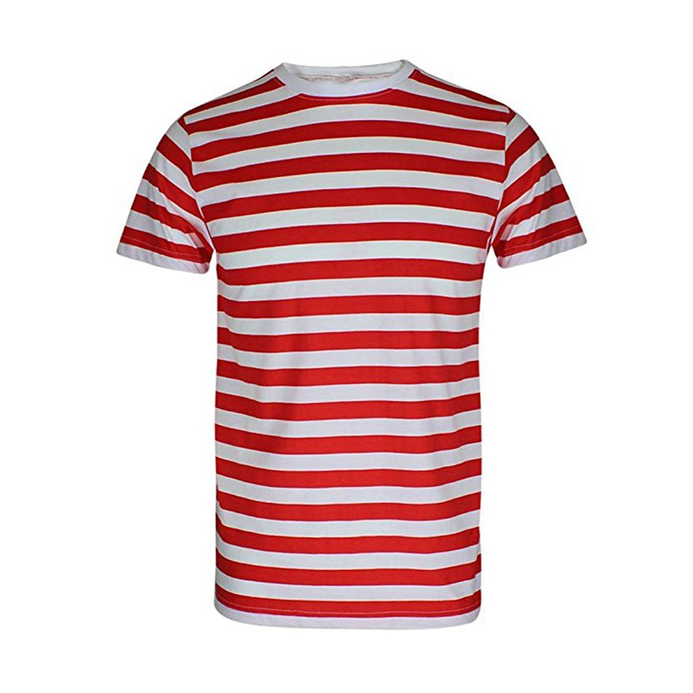 1bed0b5f3 RockBerry© Men's Boys Red & White Striped T-Shirts Top and Tees ...