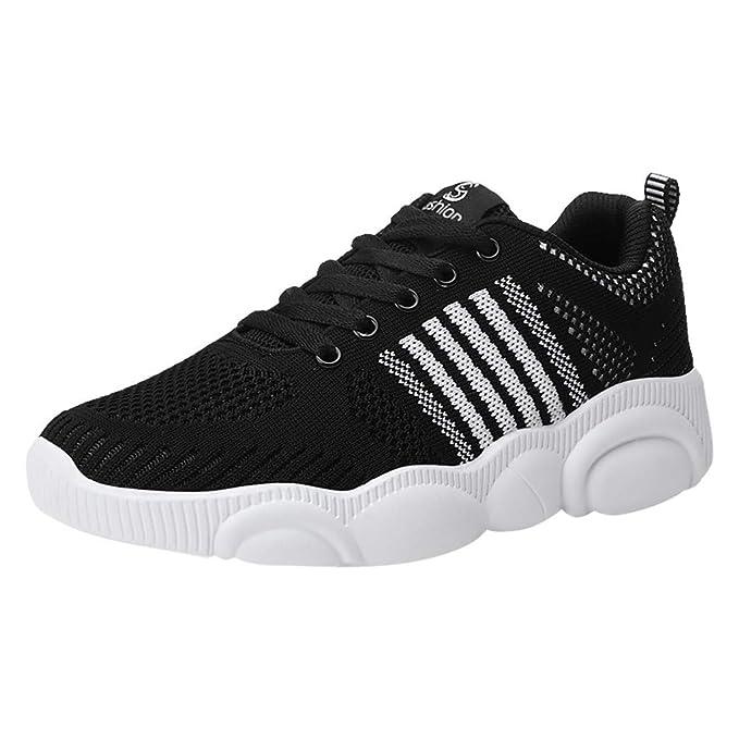 Amazon.com: Zapatillas de correr para mujer, tejido de moda ...